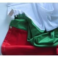 Българско знаме, размер 120 х 300 см, вертикално с капси или карабинки