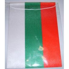 Българско знаме, вертикално, с връзка