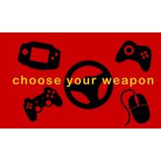 Геймърско знаме Choose your weapon, 70 x 120 см, за стена