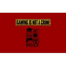 Геймърско знаме GAMING IS NOT A CRIME, 70 x 120 см, за стена
