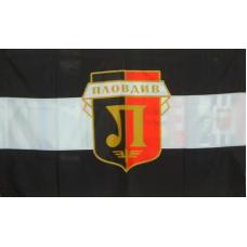 Знаме на ПФК Локомотив Пловдив, 90 x 150 см, с джоб