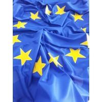 Знаме на Европейски съюз, размер 120 х 300 см, вертикално с капси или карабинки